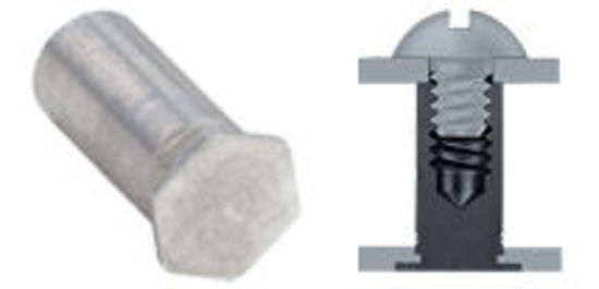 Picture of Blind Threaded Standoffs BSO4-M5-12